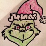 My freehand attempt at The Grinch